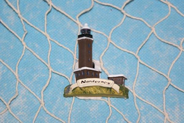 Leuchtturm Norderney als Magnet ca. 6 cm