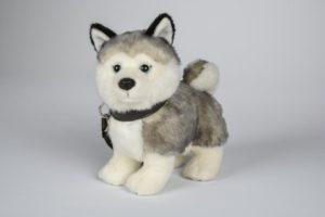 Plüsch Husky mit Leine 23cm